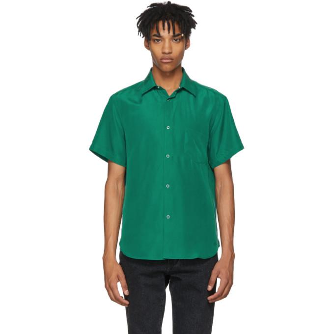 Image of Cobra S.C. Green Short Sleeve Silk Model One Shirt