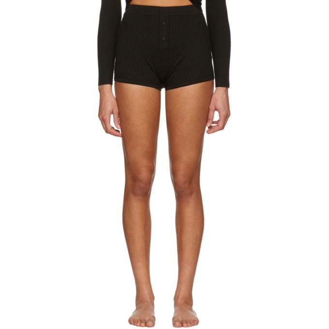 Live the Process Black Knit Boy Shorts
