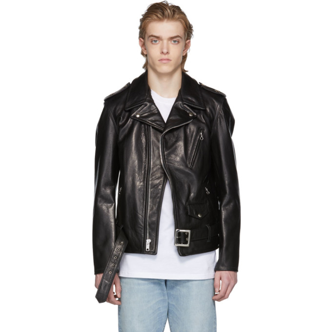 Image of Schott Black 50's Perfecto Leather Jacket
