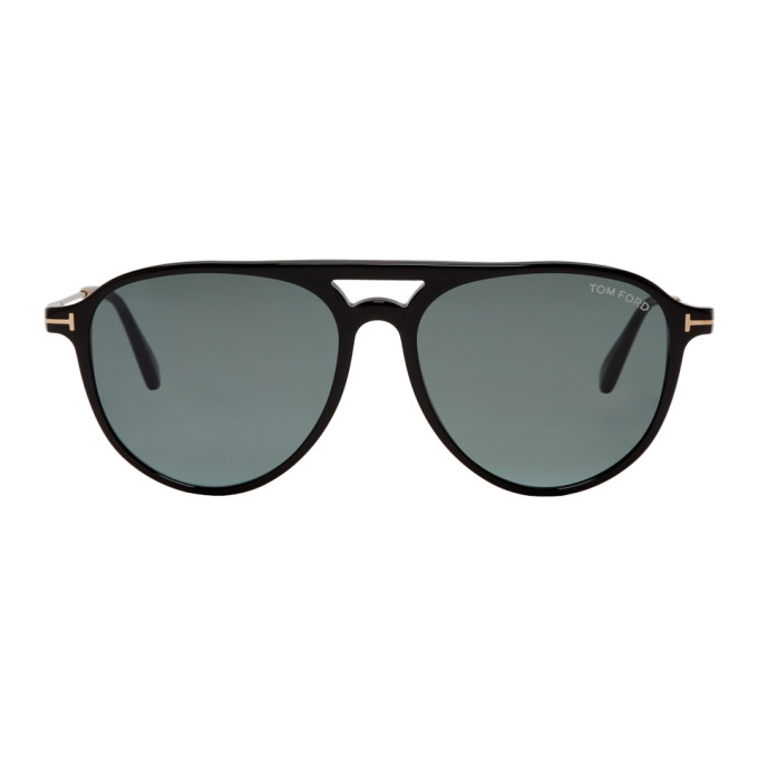 Image of Tom Ford Black & Gold Carlo 02 Sunglasses