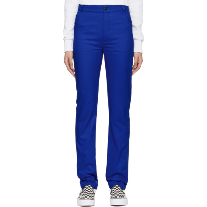 Image of Anton Belinskiy Blue Twill Trousers
