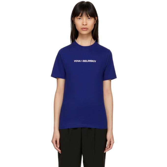 Image of Anton Belinskiy Blue Logo T-Shirt