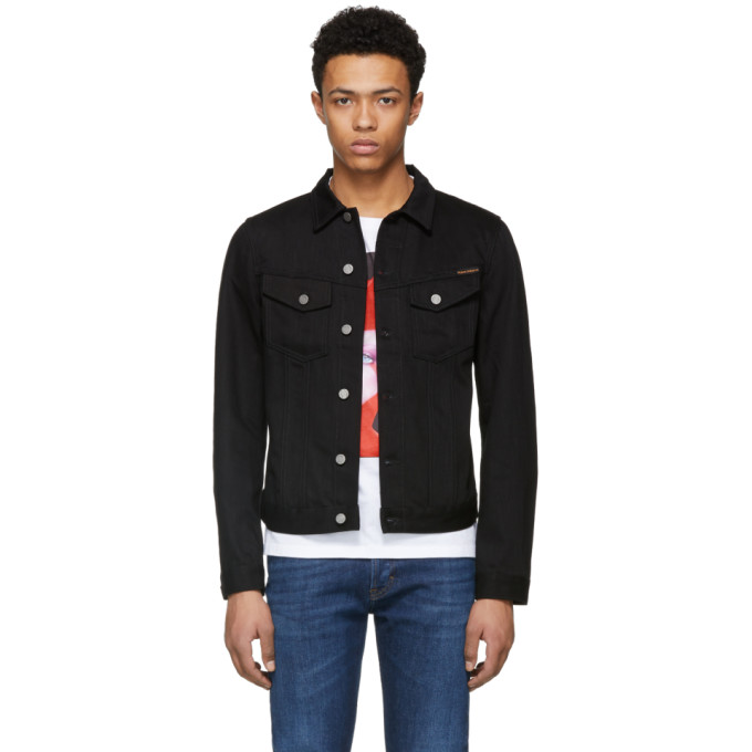 Nudie Jeans Black Denim Billy Jacket