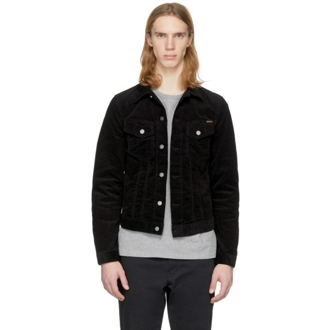 Image of Nudie Jeans Black Corduroy Billy Jacket