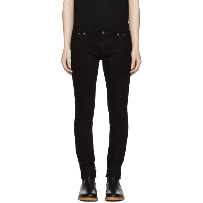 Image of Nudie Jeans Black Long John Jeans