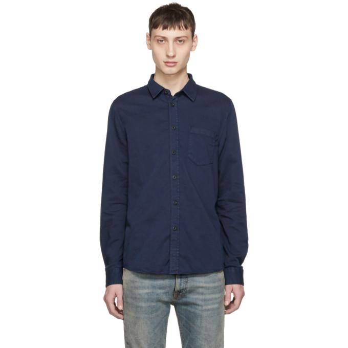 Nudie Jeans Chemise bleu marine Henry