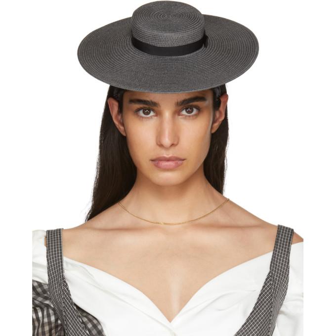 Image of Beautiful People Grey Mini Rami Hat