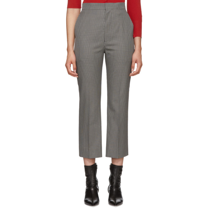 Image of Beautiful People Grey & Black Check Cigarette Trousers