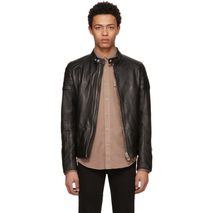 Image of Belstaff Black Leather Northcott Jacket