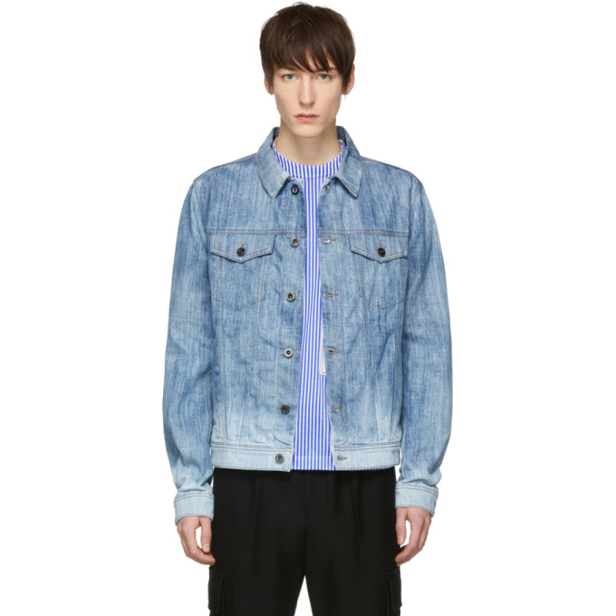 Diesel Black Gold Blue Denim Trucker Jacket