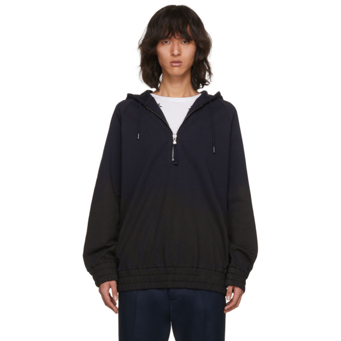 Diesel Black Gold Navy & Black Shadeoff Front Zip Hoodie