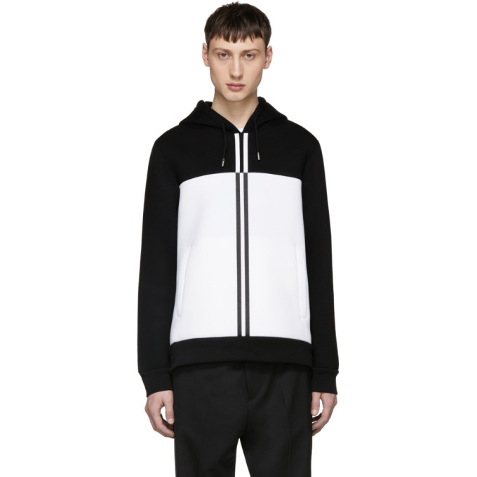 Diesel Black Gold Black & White Colorblock Hoodie