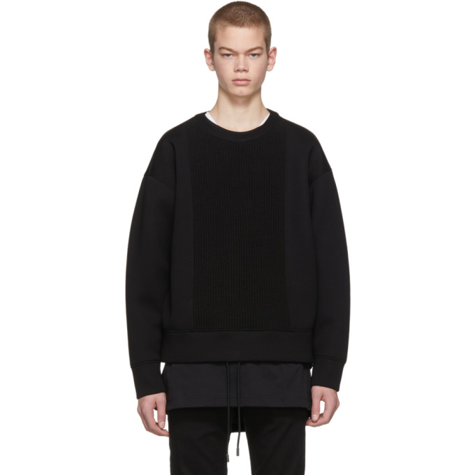 Diesel Black Gold Black Scuba Knit Sweatshirt