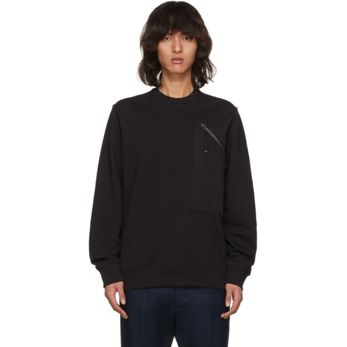 Diesel Black Gold Black Side Zip Sweatshirt