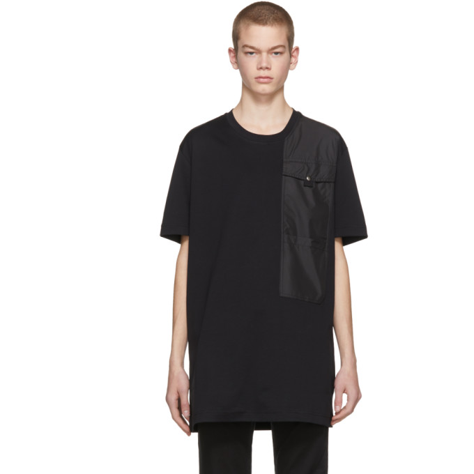 Diesel Black Gold Black Panelled Pockets T Shirt