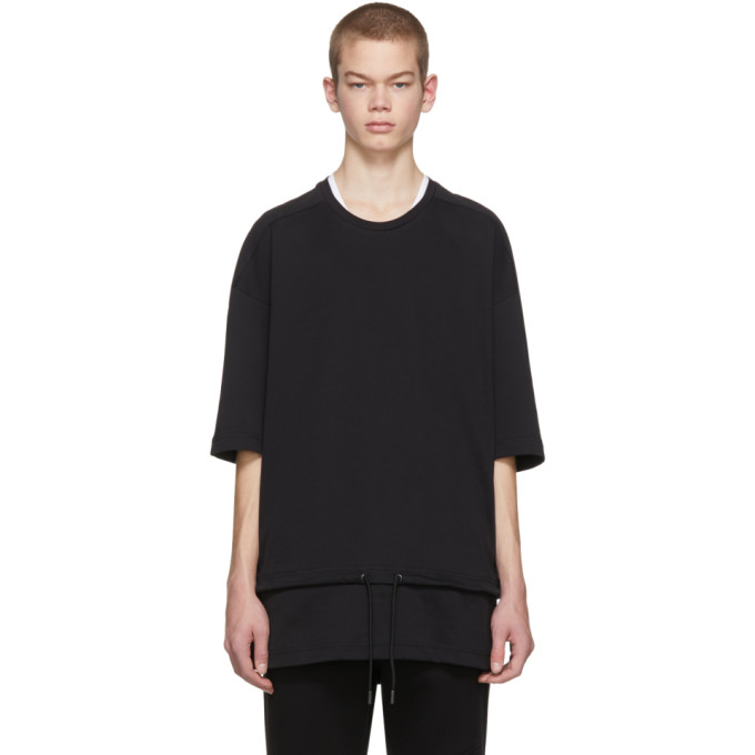 Image of Diesel Black Gold Black Drawstring Waist T-Shirt
