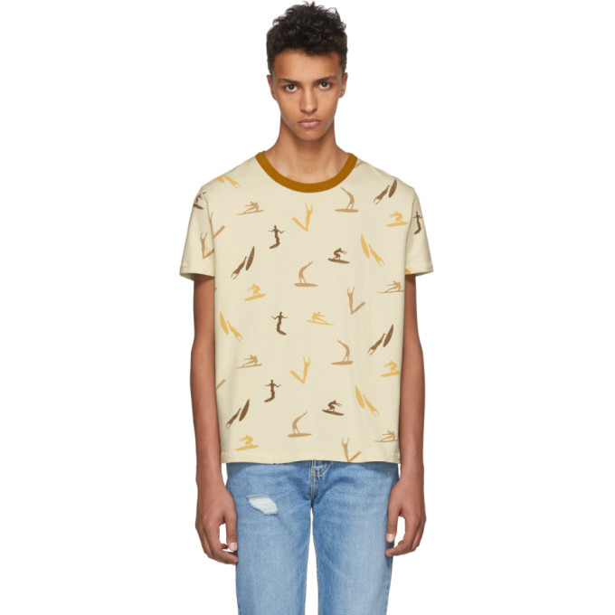 Image of Levi's Vintage Clothing White All Over Surf Print T-Shirt