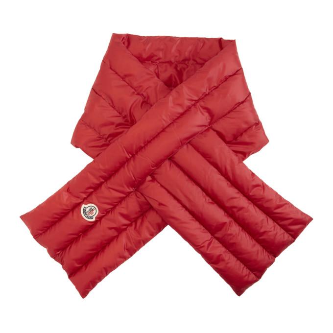 Moncler Foulard en duvet rouge