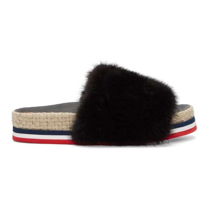 Moncler Black Evelyne Sandals