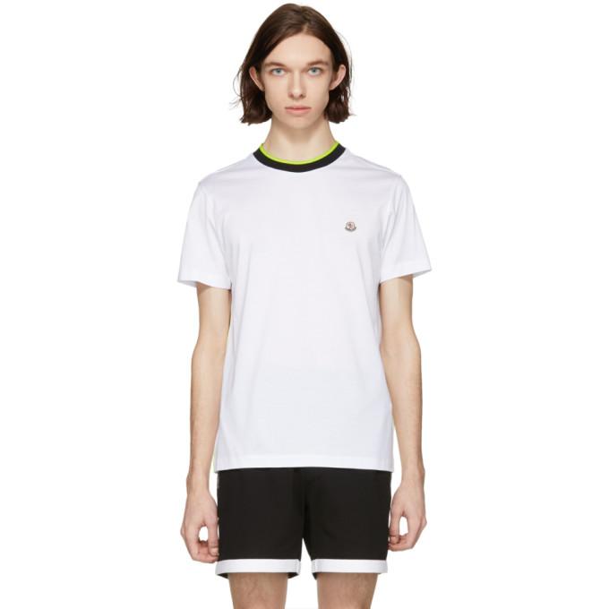 Moncler ホワイト ロゴ T シャツ
