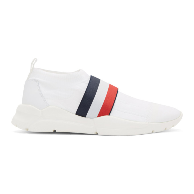 Moncler White Adon Slip-On Sneakers