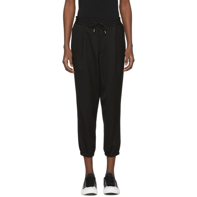 McQ Alexander McQueen Black Tailored Track Pants