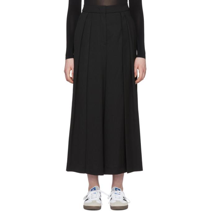 McQ Alexander McQueen Black Japanese Pleat Trousers