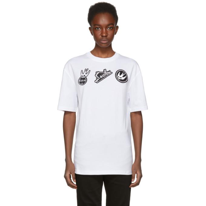 McQ Alexander McQueen White Swallow Badge T-Shirt