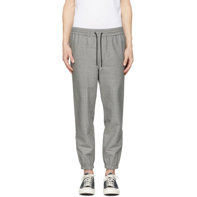 McQ Alexander McQueen Grey Houndstooth Tailored Track Trousers
