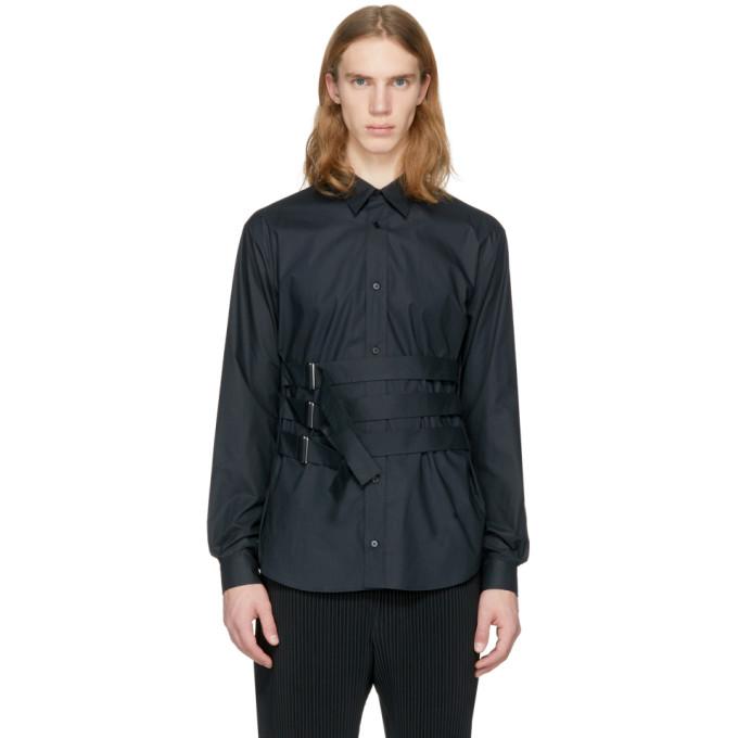 McQ Alexander McQueen Black Bondage Shields Shirt