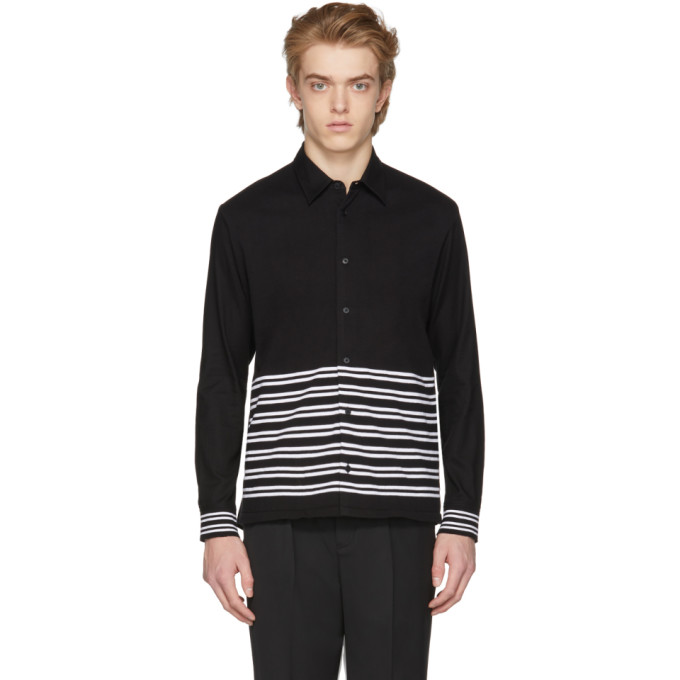 McQ Alexander McQueen Black Half Stripe Shirt