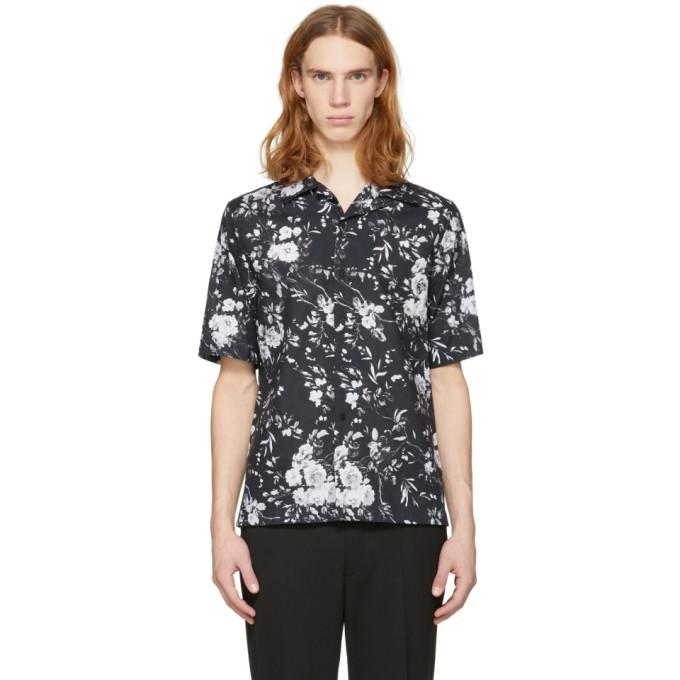 McQ Alexander McQueen Black Floral Billy Shirt