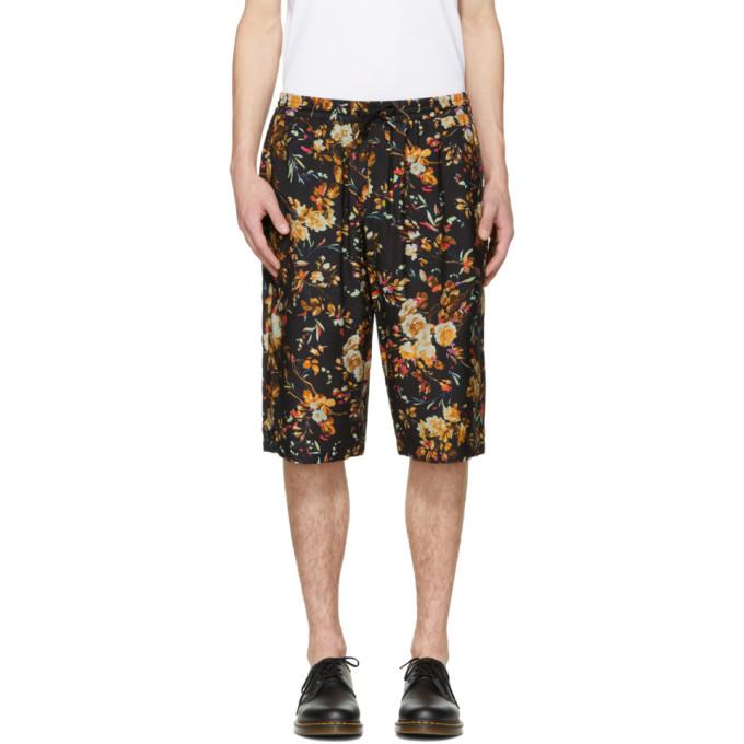 McQ Alexander McQueen Black Floral Track Shorts