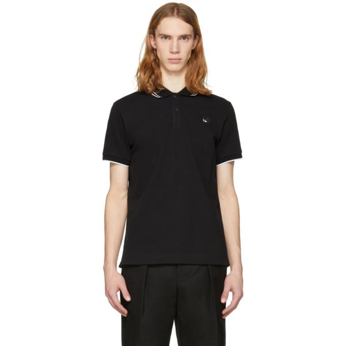 McQ Alexander McQueen Black Swallow Badge Polo