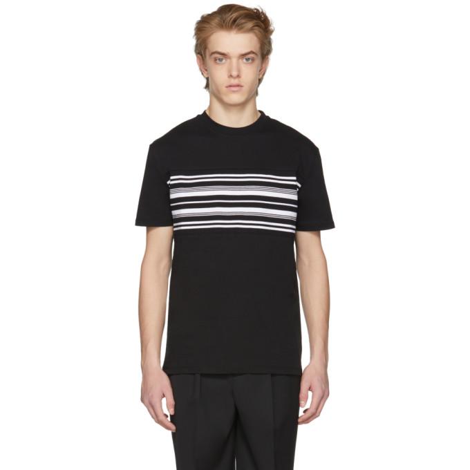 McQ Alexander McQueen Black Mid Stripe T-Shirt