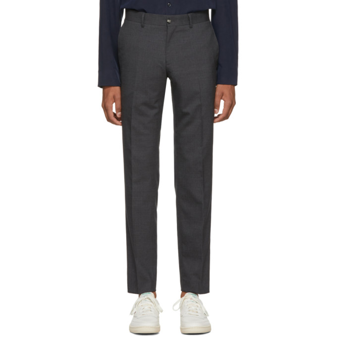 Image of Tiger of Sweden Grey Wool Herris Trousers