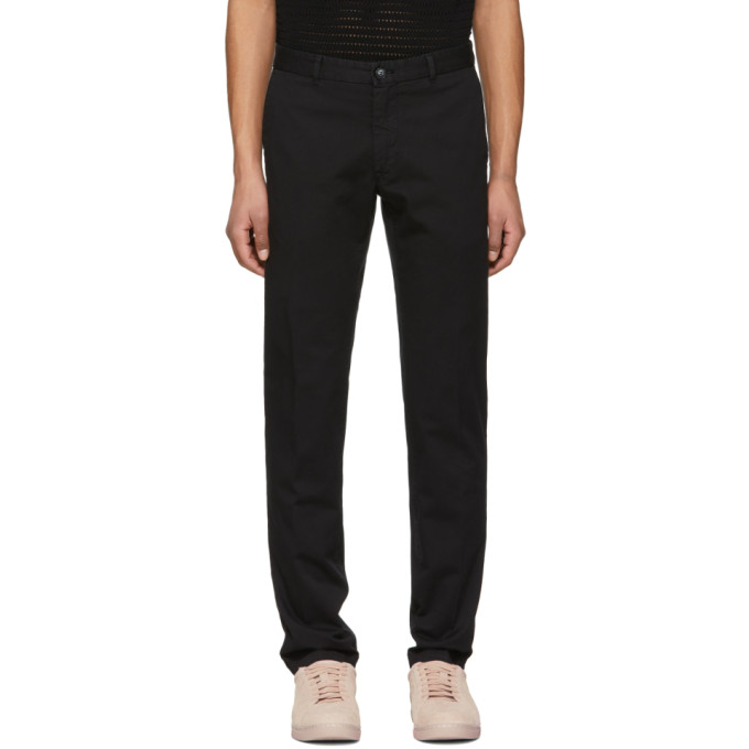 Image of Tiger of Sweden Black Rodman Trousers