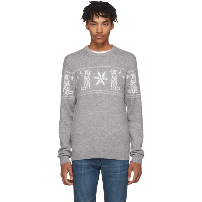 Image of Tiger of Sweden Grey Tiger & Snowflake Leach Pullover