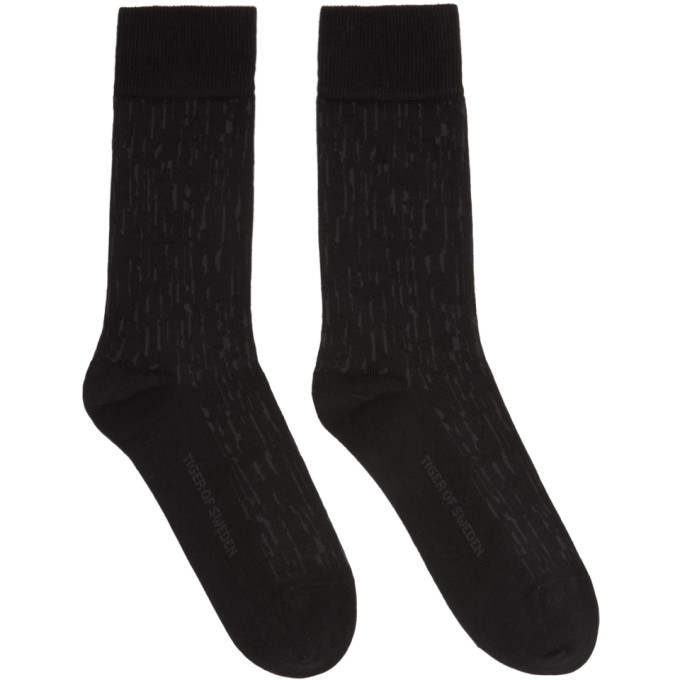 Image of Tiger of Sweden Black Fanika Socks