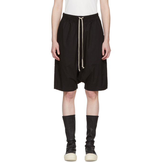 Rick Owens Drkshdw Black Pod Knee-Length Shorts