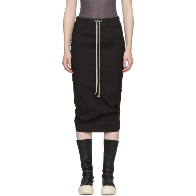 Rick Owens Drkshdw Black Pillar Skirt