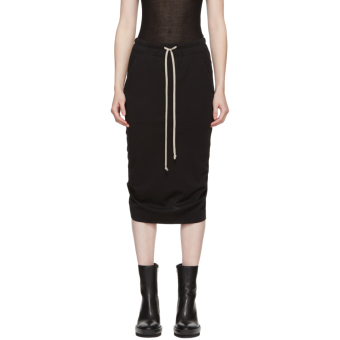 Rick Owens Drkshdw Black Soft Short Pillar Skirt