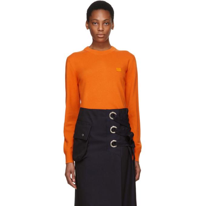 Acne Studios Orange Nalon Face Sweater