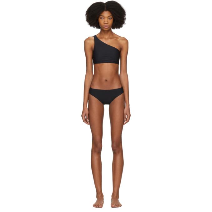 Acne Studios Bikini noir Maria Solid Single-Shoulder