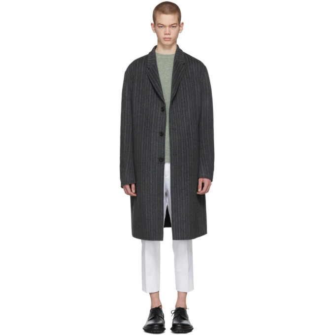 Acne Studios Grey Striped Chad Coat
