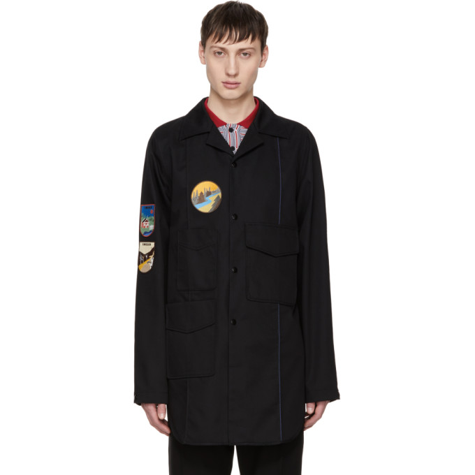 Acne Studios Black Malvel Patch Jacket