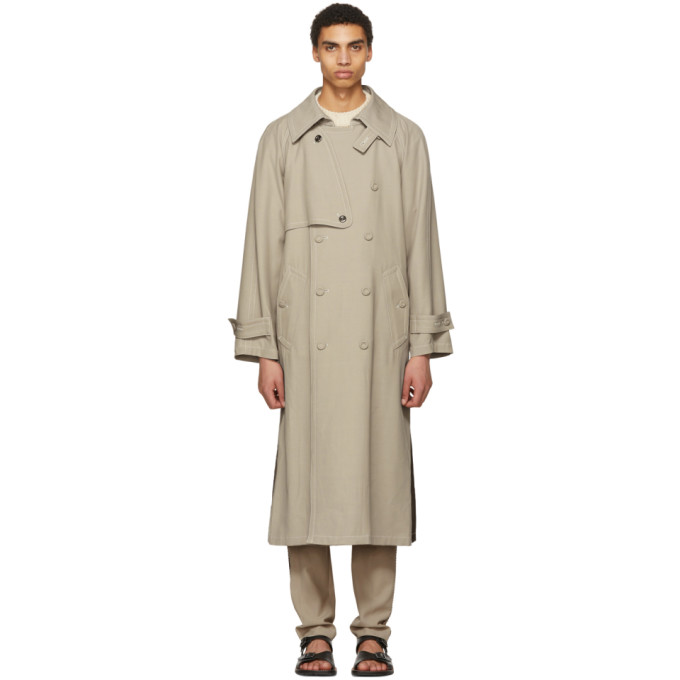 Acne Studios Khaki Maverick Trench Coat