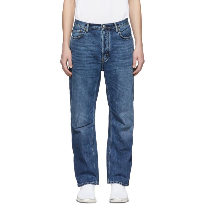 Acne Studios Blue Blå Konst Land Jeans