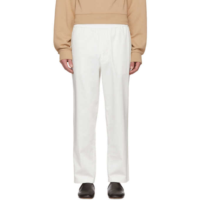 Acne Studios White Alvin Trousers