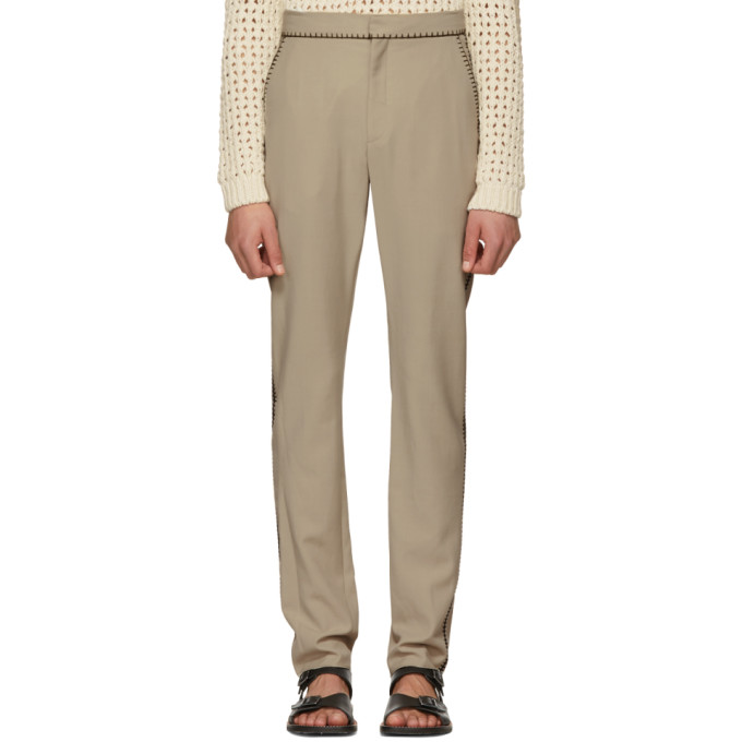 Image of Acne Studios Beige Billan C Fluid Trousers